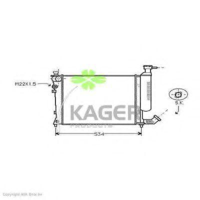 Радиатор охлаждения KAGER 310157