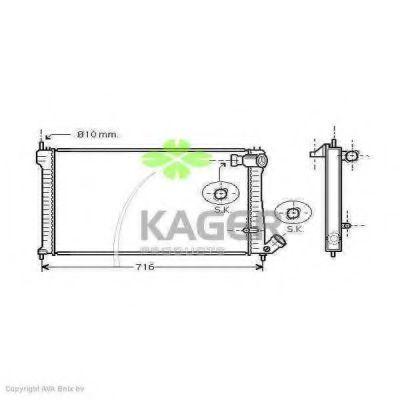 Радиатор охлаждения KAGER 310168