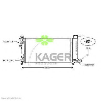 Радиатор охлаждения KAGER 310183