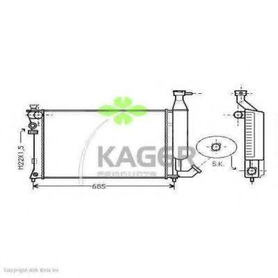 Радиатор охлаждения KAGER 310184