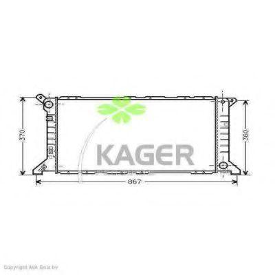 Радиатор охлаждения KAGER 310345