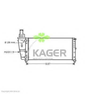 Радиатор охлаждения KAGER 310403
