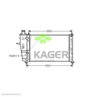 Радиатор охлаждения KAGER 310410