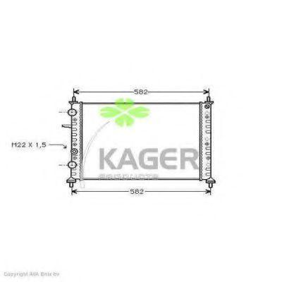 Радиатор охлаждения KAGER 310411