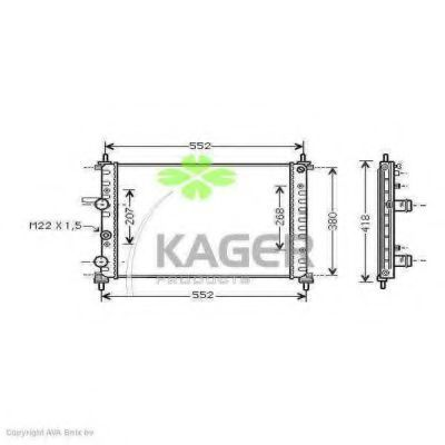 Радиатор охлаждения KAGER 310417