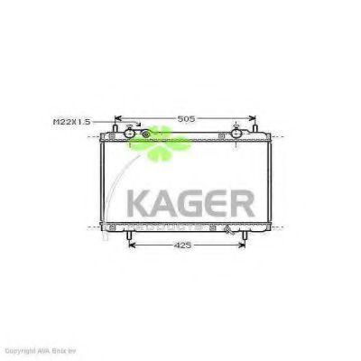 Радиатор охлаждения KAGER 310419