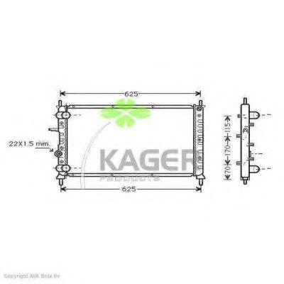 Радиатор охлаждения KAGER 310420
