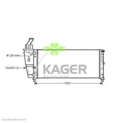 Радиатор охлаждения KAGER 310421