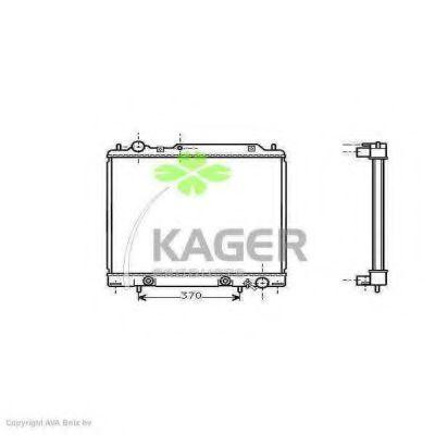 Радиатор, охлаждение двигателя KAGER 310691