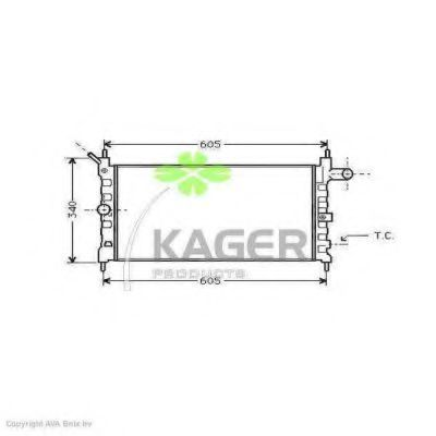Радиатор охлаждения KAGER 310738