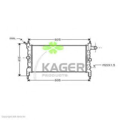 Радиатор охлаждения KAGER 310739