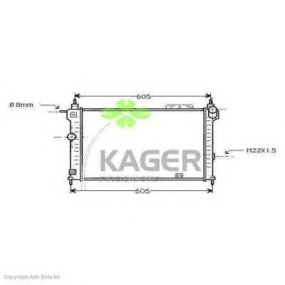 Радиатор охлаждения KAGER 310741