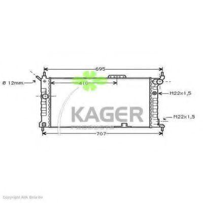 Радиатор охлаждения KAGER 310753