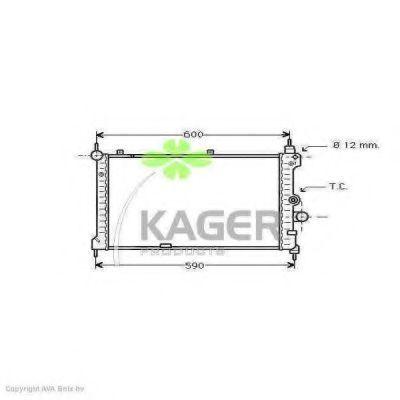 Радиатор охлаждения KAGER 310758
