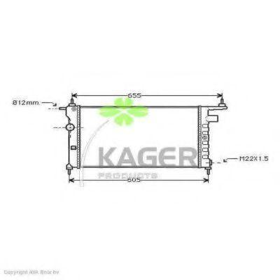 Радиатор охлаждения KAGER 310768