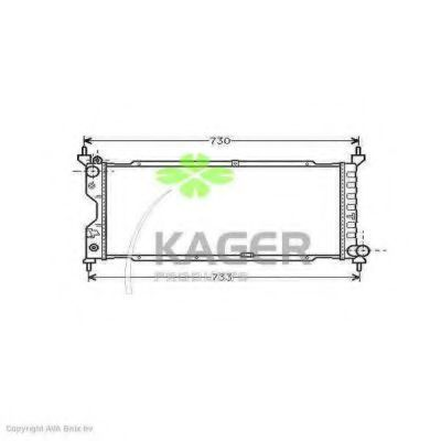 Радиатор охлаждения KAGER 310770