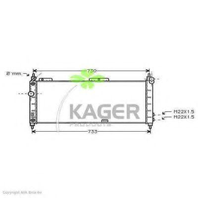 Радиатор охлаждения KAGER 310778