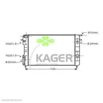 Радиатор охлаждения KAGER 310793