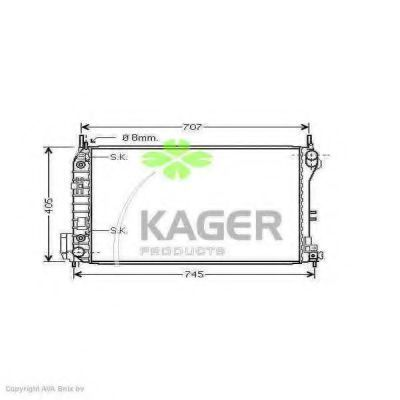 Радиатор охлаждения KAGER 310820