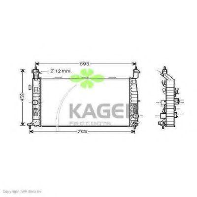 Радиатор охлаждения KAGER 310823
