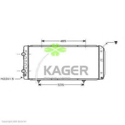 Радиатор охлаждения KAGER 310861