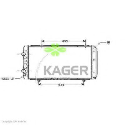 Радиатор охлаждения KAGER 310862