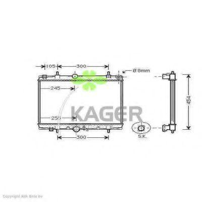 Радиатор охлаждения KAGER 310874