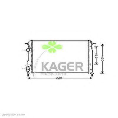 Радиатор охлаждения KAGER 310983