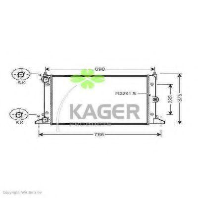 Радиатор охлаждения KAGER 311221