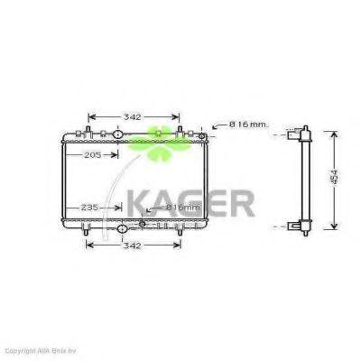 Радиатор охлаждения KAGER 311368