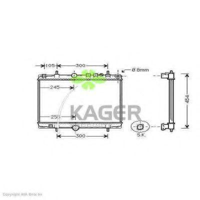Радиатор охлаждения KAGER 311452