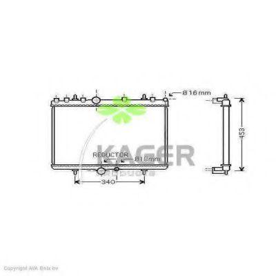 Радиатор охлаждения KAGER 311453