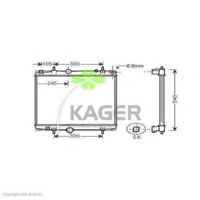 Радиатор охлаждения KAGER 311574