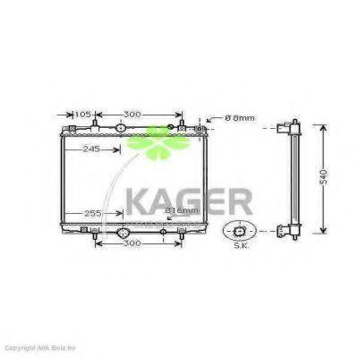 Радиатор охлаждения KAGER 311576