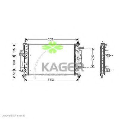 Радиатор охлаждения KAGER 311830