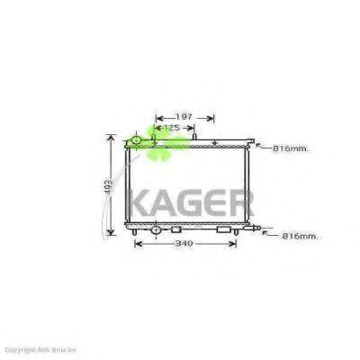 Радиатор охлаждения KAGER 311849