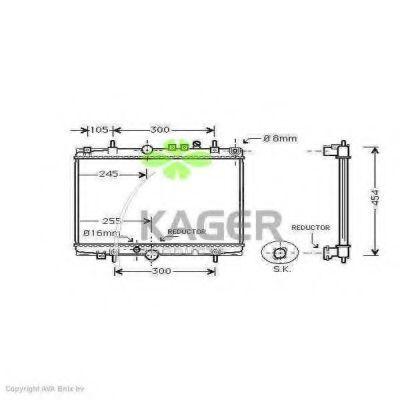 Радиатор охлаждения KAGER 311856