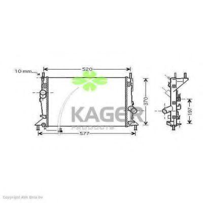 Радиатор охлаждения KAGER 312272