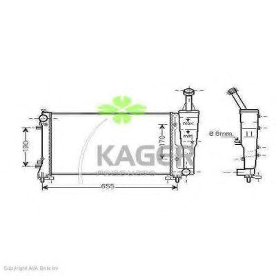 Радиатор охлаждения KAGER 312394