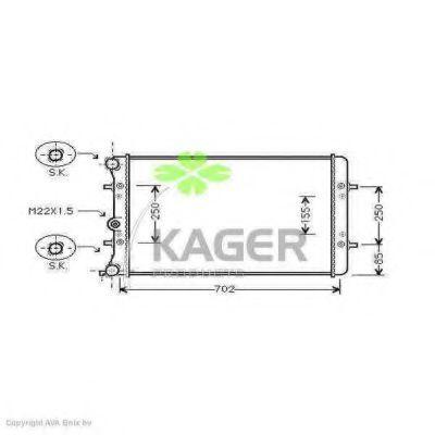 Радиатор охлаждения KAGER 312578