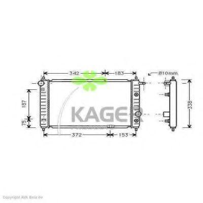 Радиатор охлаждения KAGER 312669