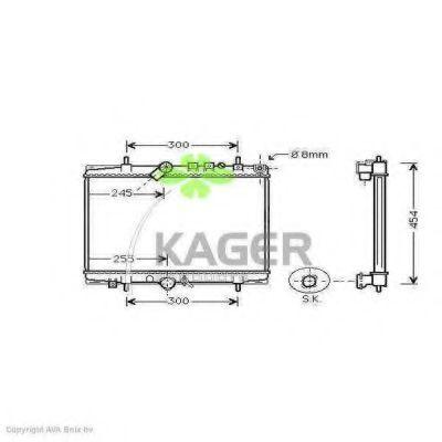 Радиатор охлаждения KAGER 312809