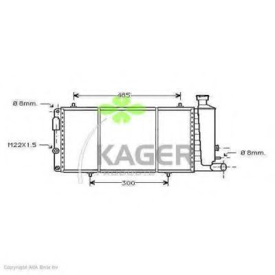 Радиатор охлаждения KAGER 313480
