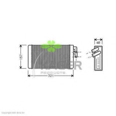 Радиатор отопителя KAGER 320001