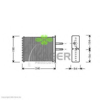 Радиатор отопителя KAGER 320052