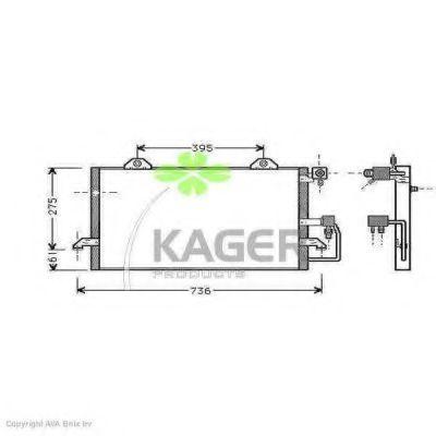 Конденсор кондиционера KAGER 945005