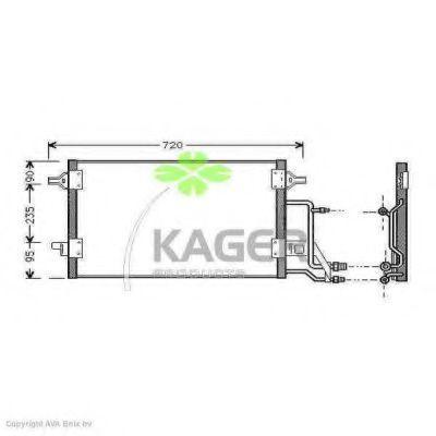 Конденсор кондиционера KAGER 945008