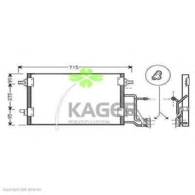 Конденсор кондиционера KAGER 945009