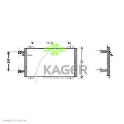 Конденсор кондиционера KAGER 945012