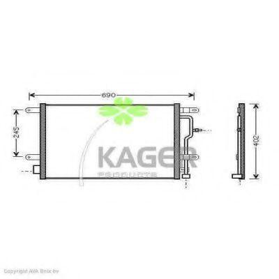 Конденсор кондиционера KAGER 945013